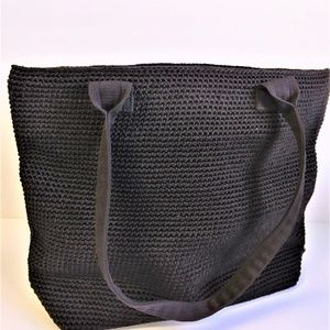 The Sak Elliot Luca Black Fiber Handbag Tote
